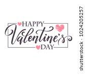 hand paint vector heart... | Shutterstock .eps vector #1024205257