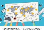 bitcoin market. flat design... | Shutterstock .eps vector #1024206907