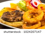 close up of opened burger ... | Shutterstock . vector #1024207147