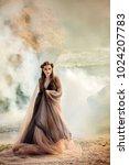 beautiful woman  at the sea | Shutterstock . vector #1024207783