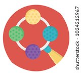 flat icon design of baby rattle | Shutterstock .eps vector #1024212967