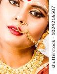 beautiful indian female model... | Shutterstock . vector #1024216507
