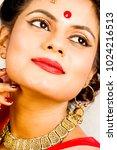 beautiful indian female model... | Shutterstock . vector #1024216513