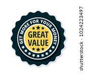 great value label illustration   Shutterstock .eps vector #1024223497
