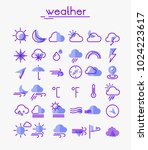 weather line thin icons | Shutterstock .eps vector #1024223617