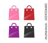 shopping bag retail logo design ... | Shutterstock .eps vector #1024226683