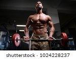 sexy strong bodybuilder... | Shutterstock . vector #1024228237