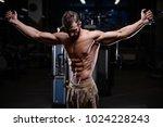 sexy strong bodybuilder... | Shutterstock . vector #1024228243