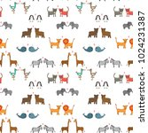 vector seamless pattern with... | Shutterstock .eps vector #1024231387