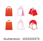 collection of shopping bag... | Shutterstock .eps vector #1024233373