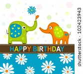 template greeting card  vector... | Shutterstock .eps vector #102423943