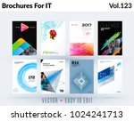 set of design of brochure ... | Shutterstock .eps vector #1024241713