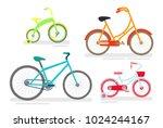 vector illustration set of... | Shutterstock .eps vector #1024244167