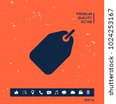 tag symbol icon | Shutterstock .eps vector #1024253167