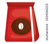 coffee bag isolated icon | Shutterstock .eps vector #1024260223