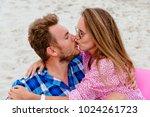 attractive girl in sunglasses... | Shutterstock . vector #1024261723