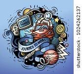 cartoon vector doodles joky... | Shutterstock .eps vector #1024262137