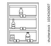 supermarket shelving with... | Shutterstock .eps vector #1024263007