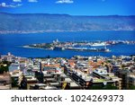strait between sicily and italy ... | Shutterstock . vector #1024269373