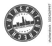 utrecht netherlands round stamp ... | Shutterstock .eps vector #1024269997