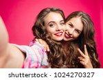 self portrait of beautiful... | Shutterstock . vector #1024270327