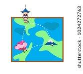 map vector for travel | Shutterstock .eps vector #1024272763