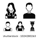 girl with long hair  blond ... | Shutterstock .eps vector #1024280263