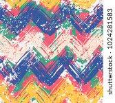 grunge chevron vector pattern... | Shutterstock .eps vector #1024281583