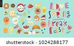 love  spring  breakfast... | Shutterstock .eps vector #1024288177