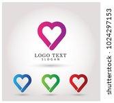 heart   love logo. symbol  ... | Shutterstock .eps vector #1024297153