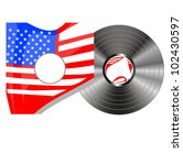 vinyl bubbles in usa flag cover | Shutterstock .eps vector #102430597