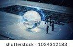 global business network concept. | Shutterstock . vector #1024312183