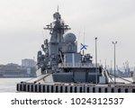 modern russian military cruiser ...   Shutterstock . vector #1024312537