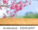 empty top wooden table and... | Shutterstock . vector #1024316947
