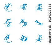 winter sports icons set vector | Shutterstock .eps vector #1024323883