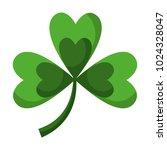 green clover three leaves luck... | Shutterstock .eps vector #1024328047