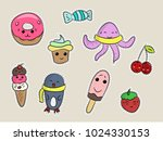 set of fashion patches  cute... | Shutterstock .eps vector #1024330153