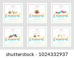 2018 carnaval funfair card with ... | Shutterstock .eps vector #1024332937