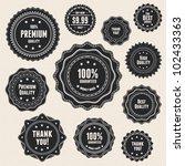 set 9 vintage premium quality... | Shutterstock . vector #102433363