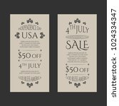 independence day usa sale... | Shutterstock .eps vector #1024334347