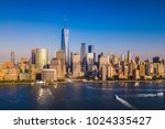 lower manhattan skyline with a... | Shutterstock . vector #1024335427
