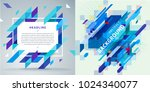 set of abstract backgrounds.... | Shutterstock .eps vector #1024340077