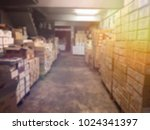 blurred boxes in warehouse... | Shutterstock . vector #1024341397