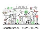 sport concept vector... | Shutterstock .eps vector #1024348093