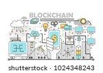 blockchain technology process... | Shutterstock .eps vector #1024348243