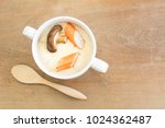 homemade style steamed egg with ...   Shutterstock . vector #1024362487