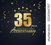 anniversary celebration design... | Shutterstock . vector #1024364707