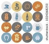 saint patricks day icon set.... | Shutterstock .eps vector #1024368253