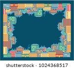 vector illustration of a city... | Shutterstock .eps vector #1024368517