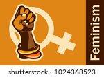 feminism concept female power.... | Shutterstock .eps vector #1024368523